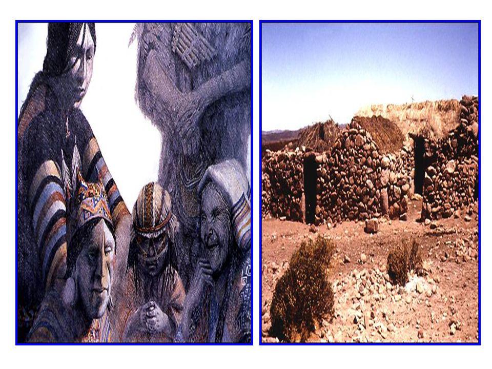 LOS AIMARAES Vivían en el altiplano, al norte de los atacameños, en pequeños grupos, dedicados a la agricultura la que fueron perfeccionando, utilizan