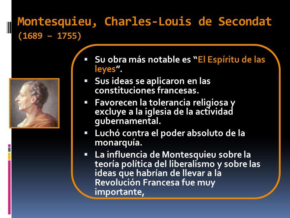 Juan Jacobo Rousseau (1712 – 1778) Entre sus obras más importantes esta El Contrato social (1762).