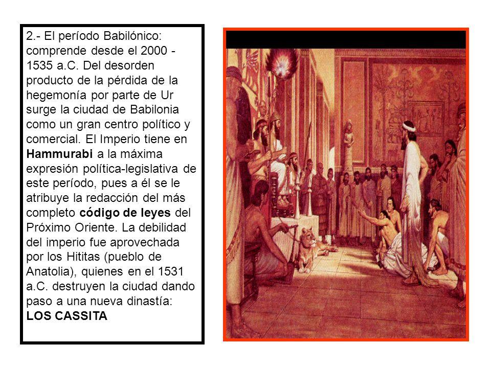 3.- Periodo Asirio (1360 – 612 a.c.) surge un nacionalismo religioso, violento en el Norte de Mesopotamia: Asiria.