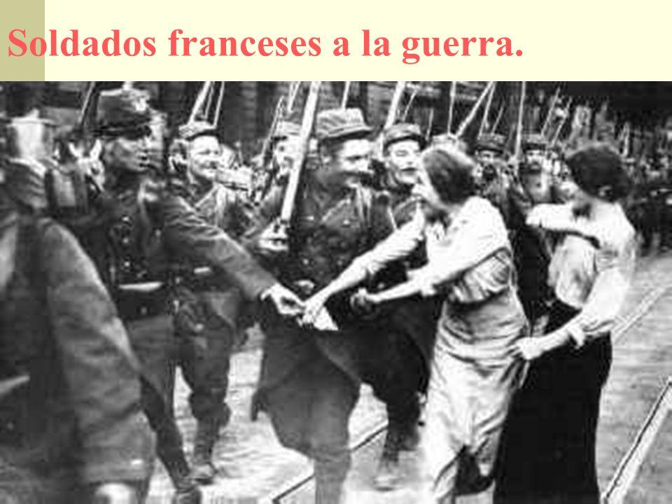 Soldados franceses a la guerra.