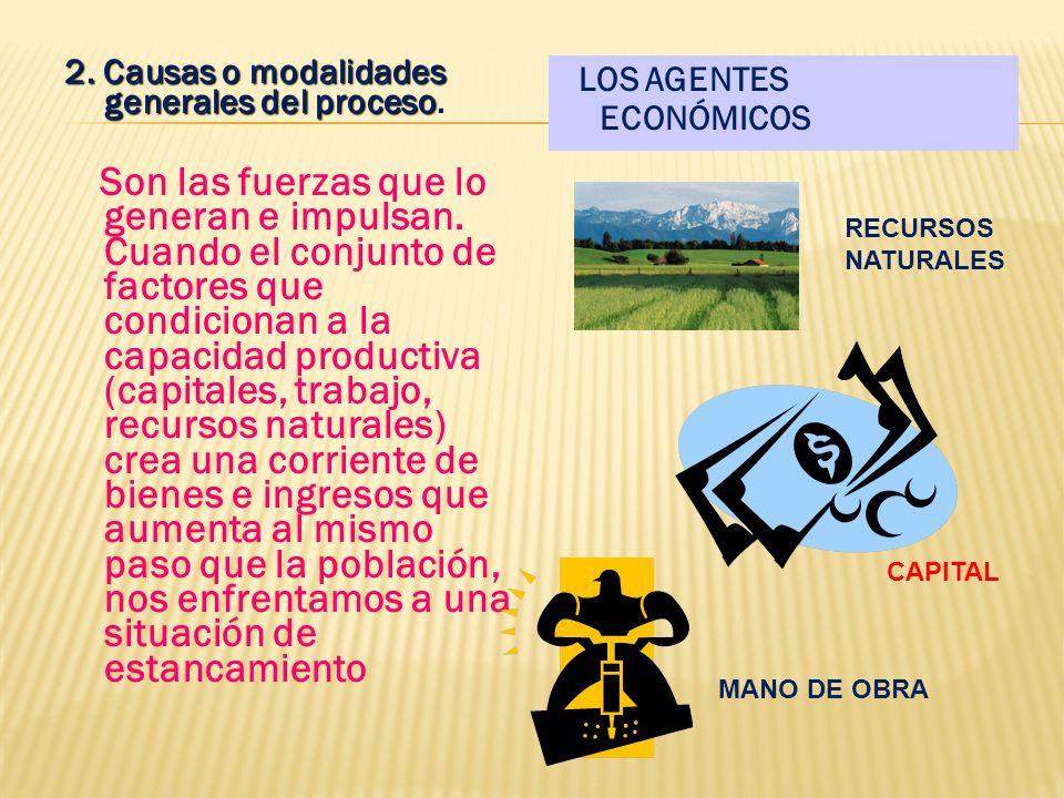 C. EL DESARROLLO ECONÓMICO 1. Los elementos del Desarrollo Económico. La expresión más simple y visible de ese fenómeno reside en la tasa de aumento d