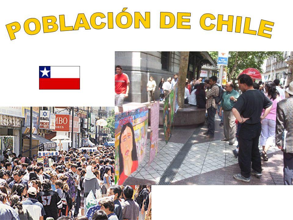 Chile es un país étnicamente homogeneo ya que El 80% de su población es de origen mestizo.