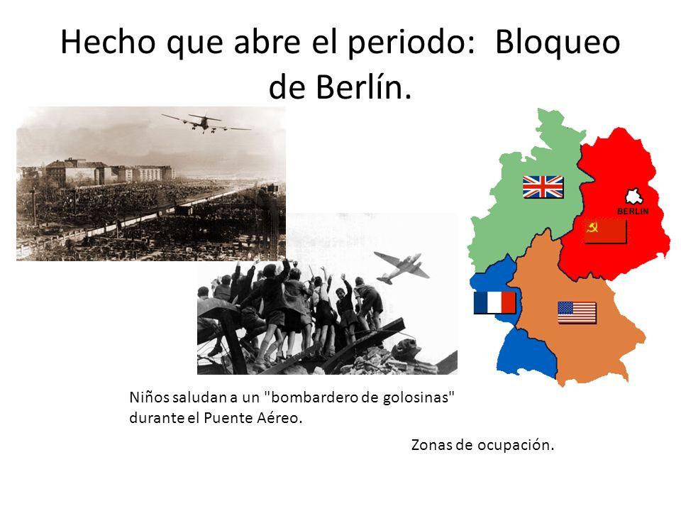 Hecho que abre el periodo: Bloqueo de Berlín. Zonas de ocupación. Niños saludan a un
