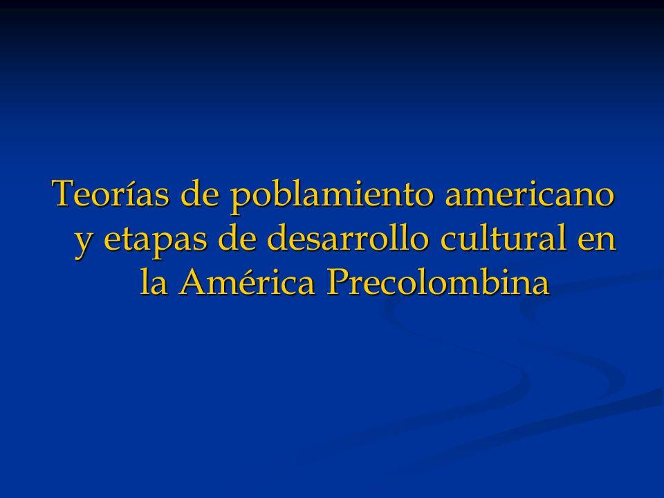Teorías de poblamiento americano y etapas de desarrollo cultural en la América Precolombina