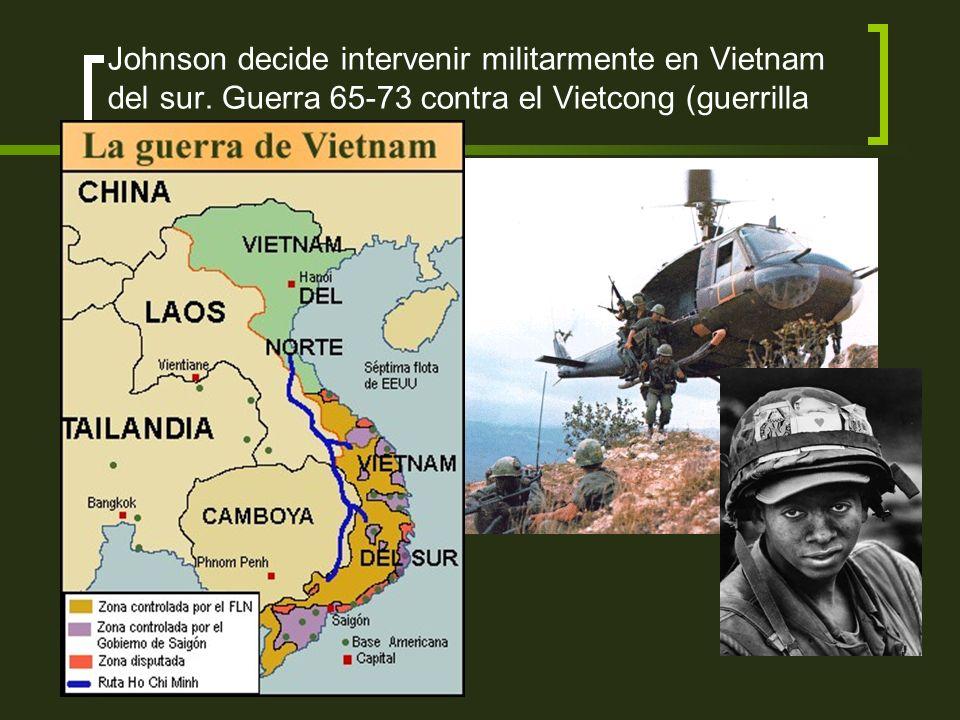 CAUSA de la Guerra o Deseo de reunificación de Vietnam del Norte Negativa a la reunificación por parte del Sur Creación del Vietcong (movimiento comun