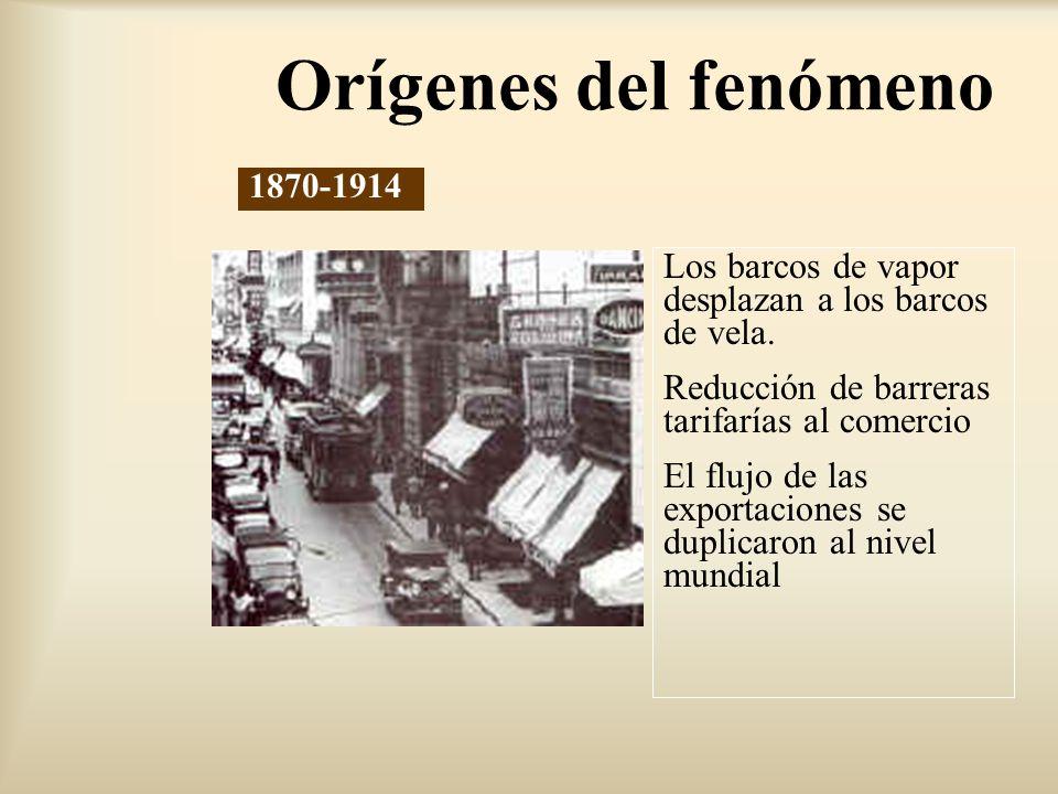 [...] Reducción de barreras al comercio (GATT-OMC) Inicia el desmantelamiento de los esquemas proteccionistas surgidos en los años treinta Menores costos de transporte: Contenedores de mayor capacidad, transporte aéreo de carga y menor costo del transporte marítimo 1945-1980