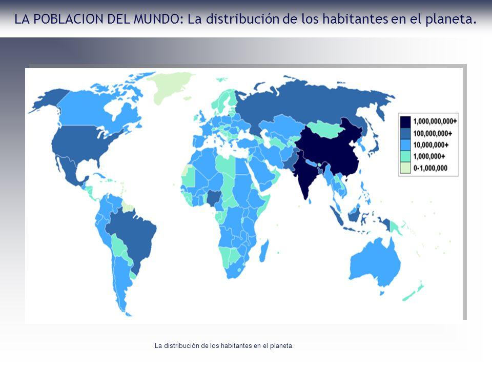 LA POBLACION DEL MUNDO: La distribución de los habitantes en el planeta. La distribución de los habitantes en el planeta.