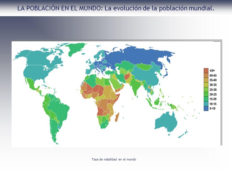 LA POBLACIÓN EN EL MUNDO: La evolución de la población mundial. Tasa de natalidad en el mundo
