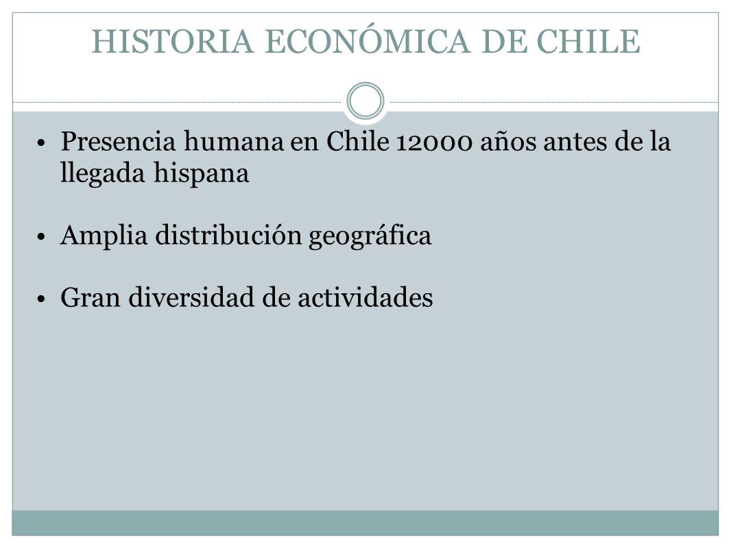 Presencia humana en Chile 12000 años antes de la llegada hispana Amplia distribución geográfica Gran diversidad de actividades