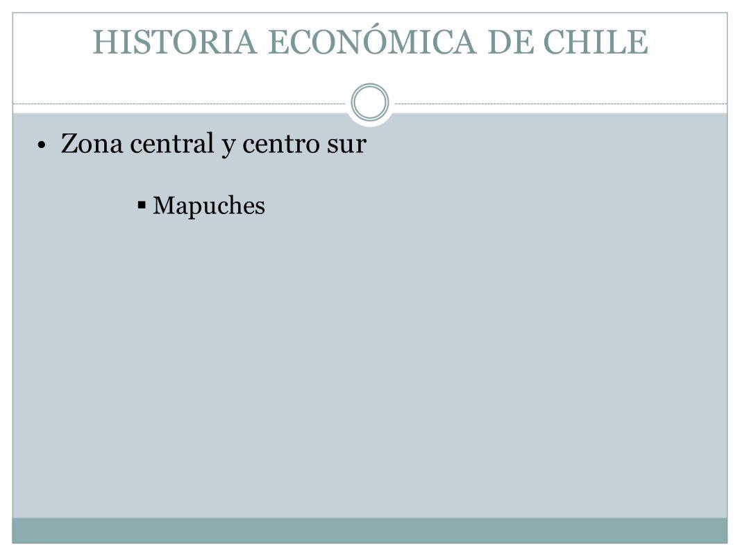 HISTORIA ECONÓMICA DE CHILE Zona central y centro sur Mapuches