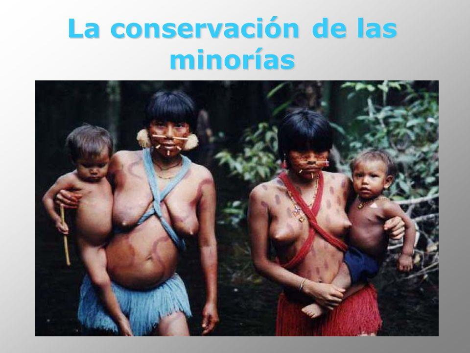 La conservación de las minorías