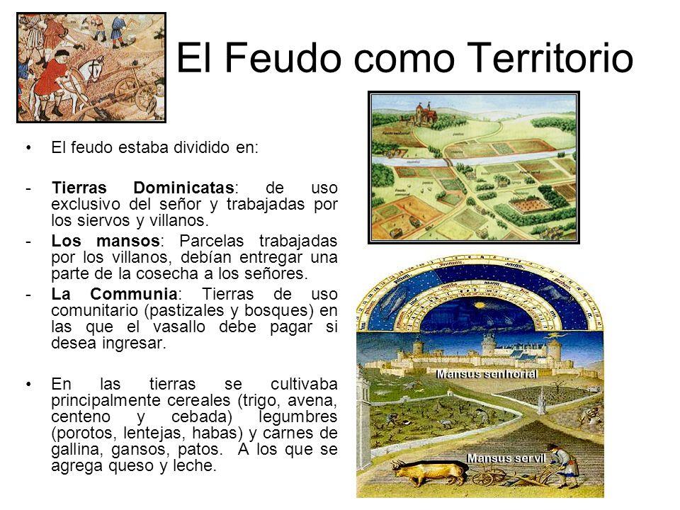 El Feudo como Territorio El feudo es ante todo de carácter agrícola. Debido al derrumbe de las ciudades esta organización se convirtió en la más impor