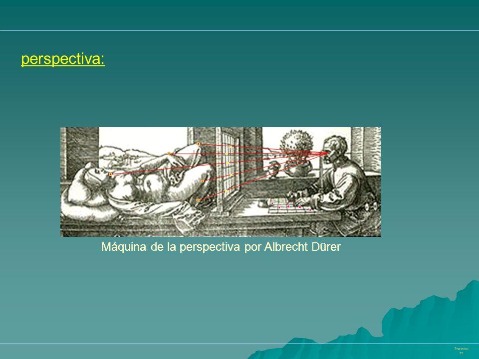 Präsentati on perspectiva: Máquina de la perspectiva por Albrecht Dürer