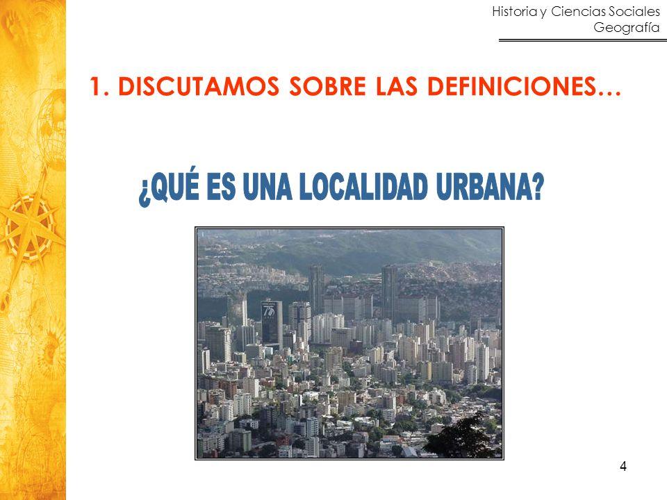 Historia y Ciencias Sociales Geografía 4 1. DISCUTAMOS SOBRE LAS DEFINICIONES…