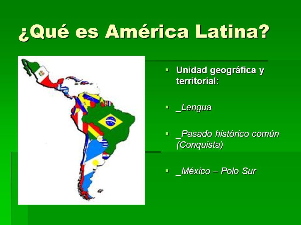 Características de la Población de A.Latina Población más numerosa que la de América Anglosajona.