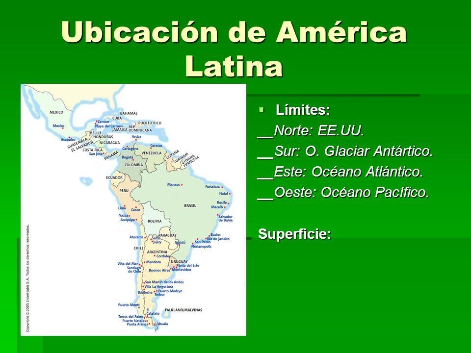 Características de la Población de A. Latina Población muy joven Población muy joven