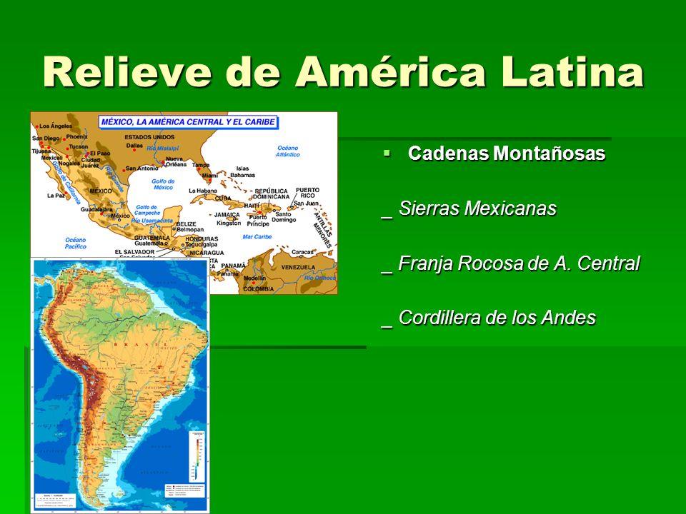 Relieve de América Latina