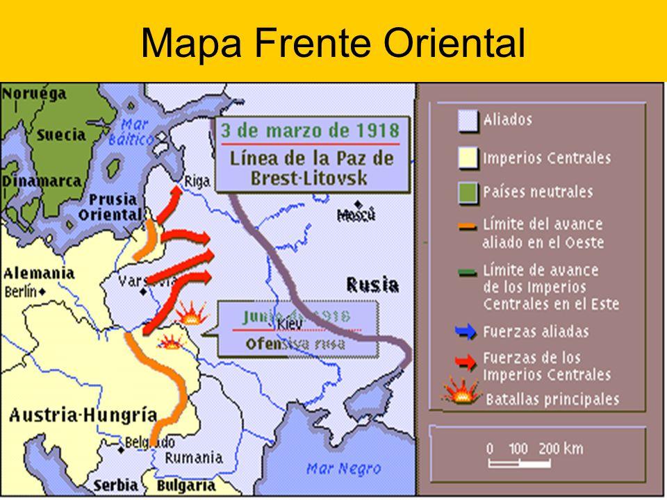 Mapa Frente Oriental