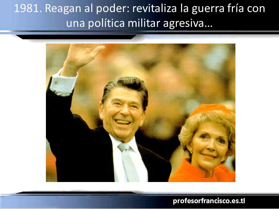 profesorfrancisco.es.tl 1981. Reagan al poder: revitaliza la guerra fría con una política militar agresiva…