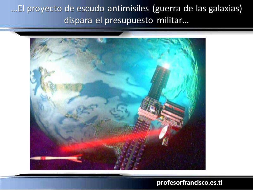 profesorfrancisco.es.tl …El proyecto de escudo antimisiles (guerra de las galaxias) dispara el presupuesto militar…