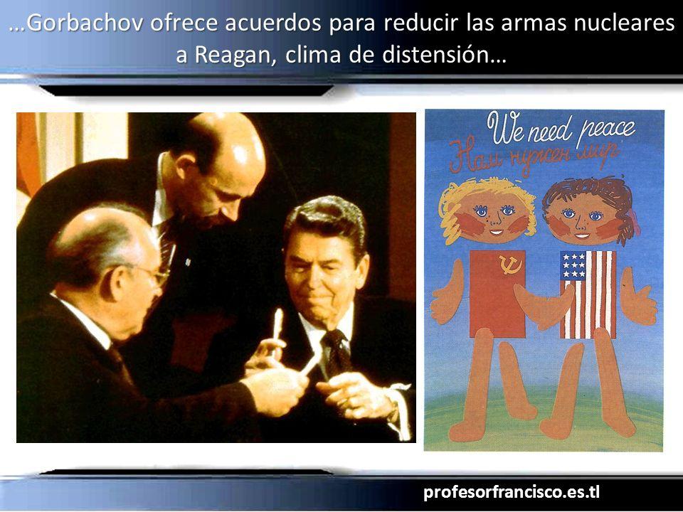 profesorfrancisco.es.tl …Gorbachov ofrece acuerdos para reducir las armas nucleares a Reagan, clima de distensión…