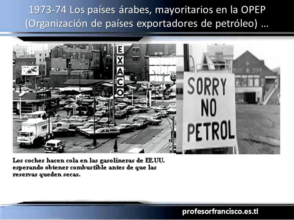 profesorfrancisco.es.tl 1974.Suben los precios del petróleo (1º fuente de energía) un 400%.