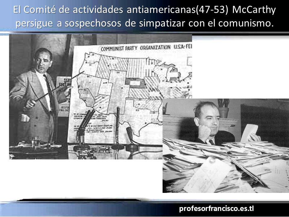 profesorfrancisco.es.tl El Comité de actividades antiamericanas(47-53) McCarthy persigue a sospechosos de simpatizar con el comunismo.
