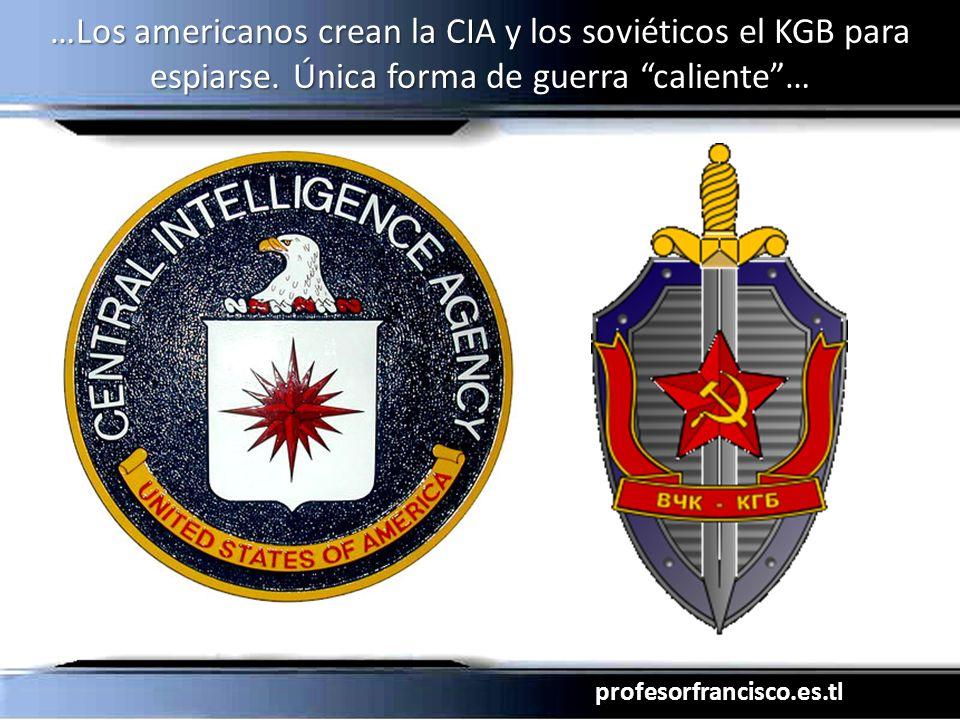 profesorfrancisco.es.tl …Los americanos crean la CIA y los soviéticos el KGB para espiarse. Única forma de guerra caliente…