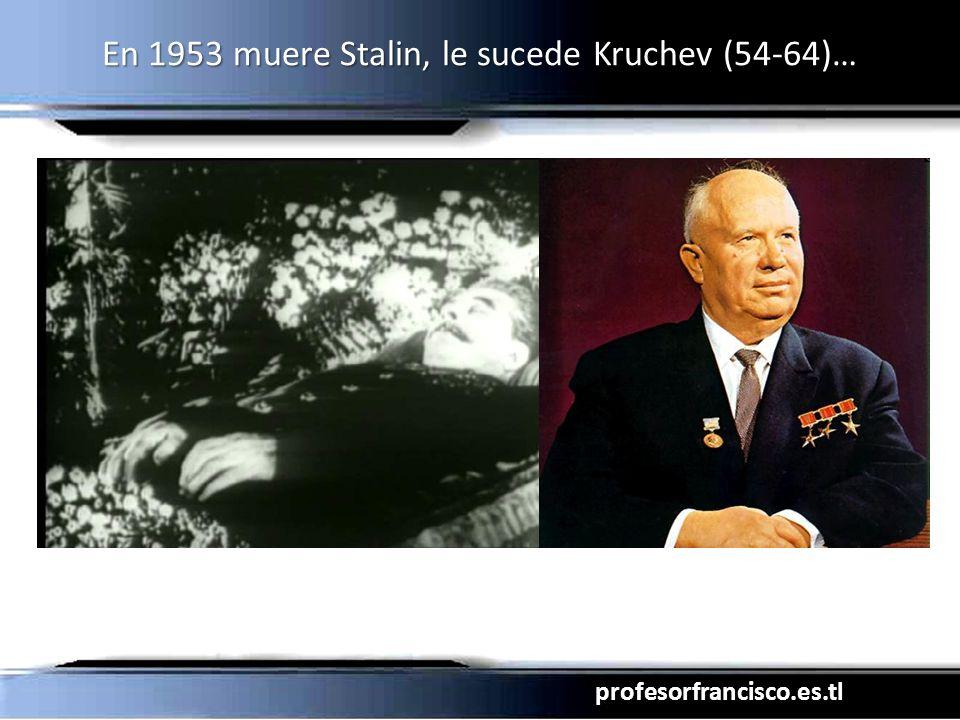 profesorfrancisco.es.tl En 1953 muere Stalin, le sucede Kruchev (54-64)…