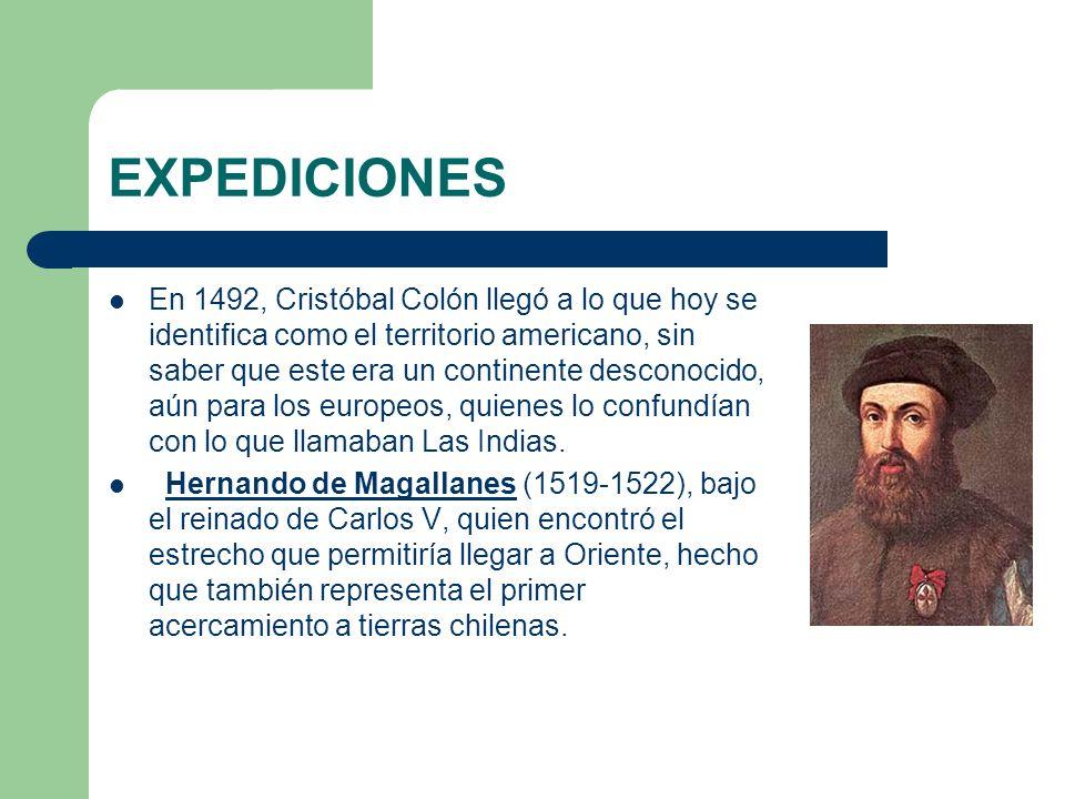 EXPEDICIONES En 1492, Cristóbal Colón llegó a lo que hoy se identifica como el territorio americano, sin saber que este era un continente desconocido,