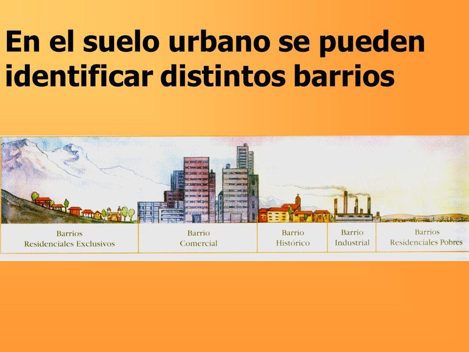 En el suelo urbano se pueden identificar distintos barrios