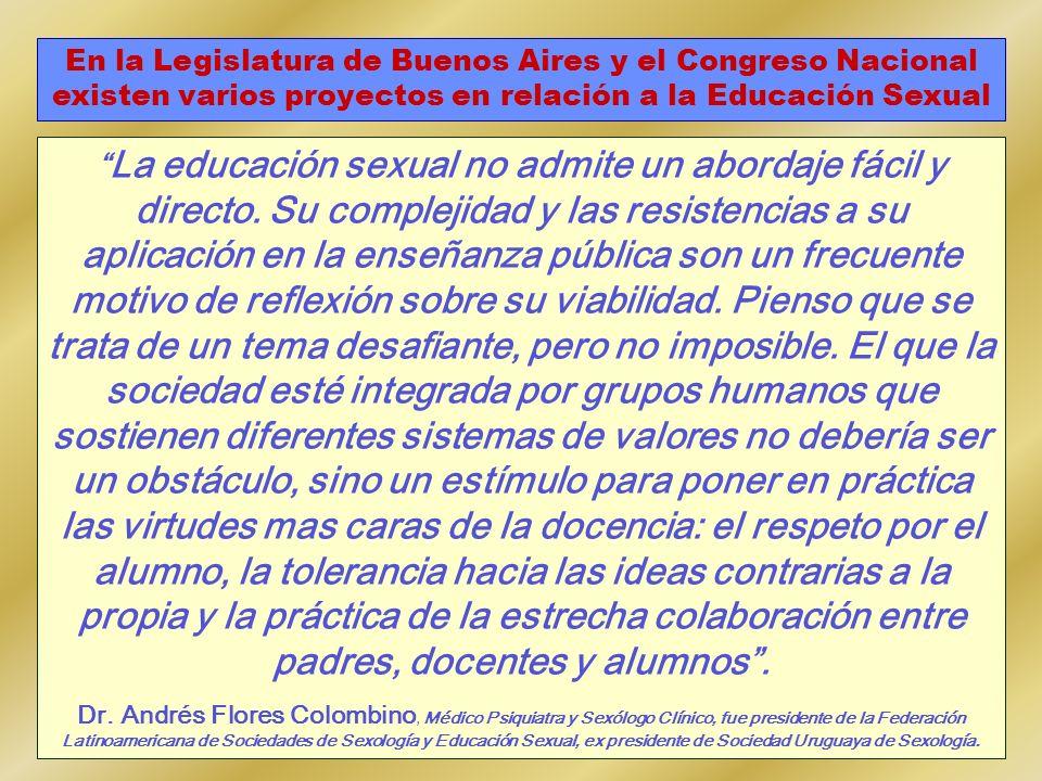 La educación sexual no admite un abordaje fácil y directo. Su complejidad y las resistencias a su aplicación en la enseñanza pública son un frecuente
