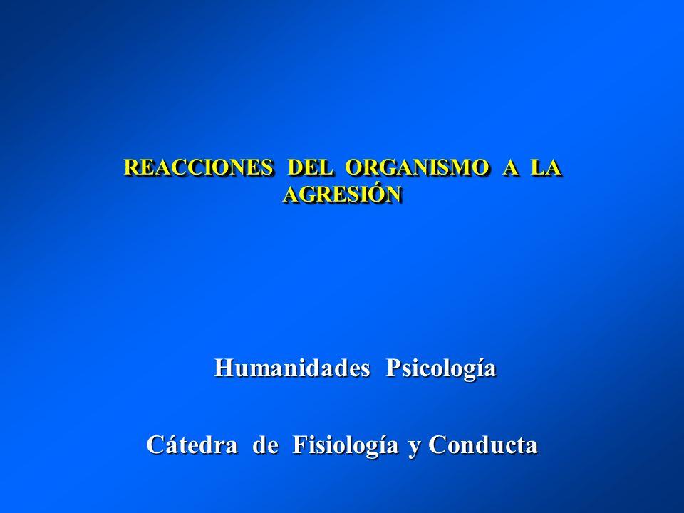 REACCIONES DEL ORGANISMO A LA AGRESIÓN Humanidades Psicología Humanidades Psicología Cátedra de Fisiología y Conducta