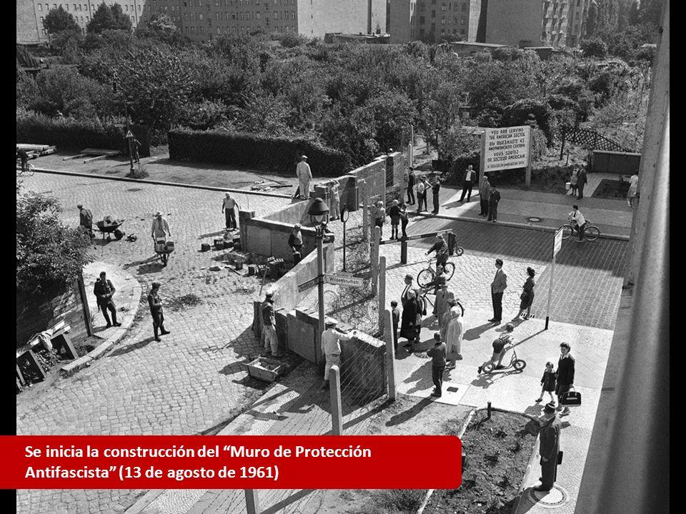 Se inicia la construcción del Muro de Protección Antifascista (13 de agosto de 1961)