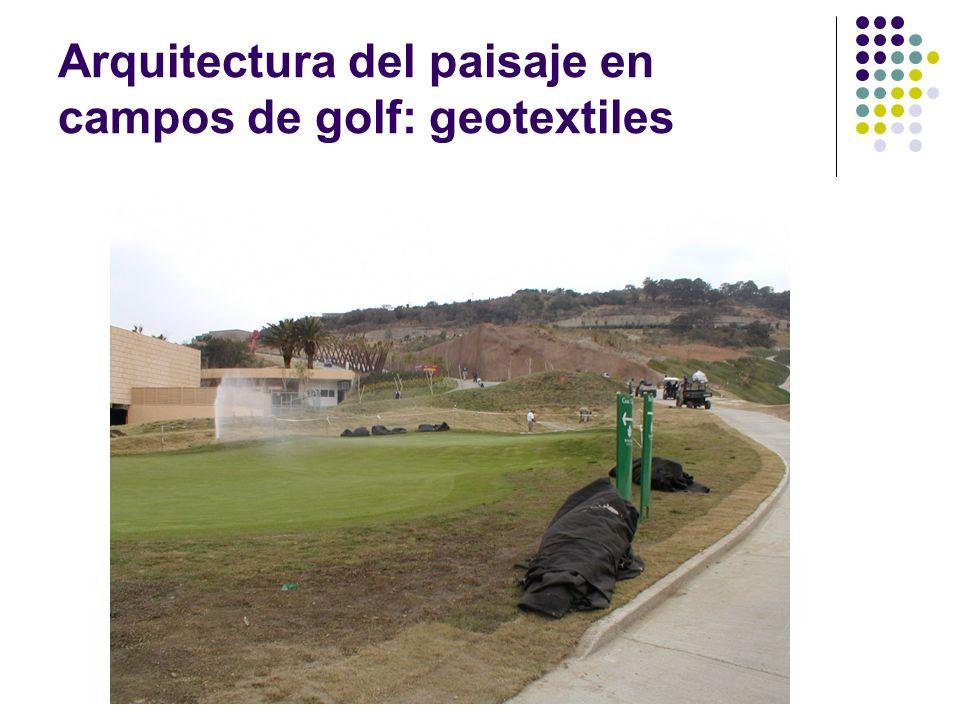 Arquitectura del paisaje en campos de golf: geotextiles