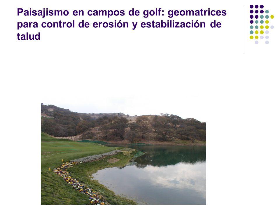 Paisajismo en campos de golf: geomatrices para control de erosión y estabilización de talud