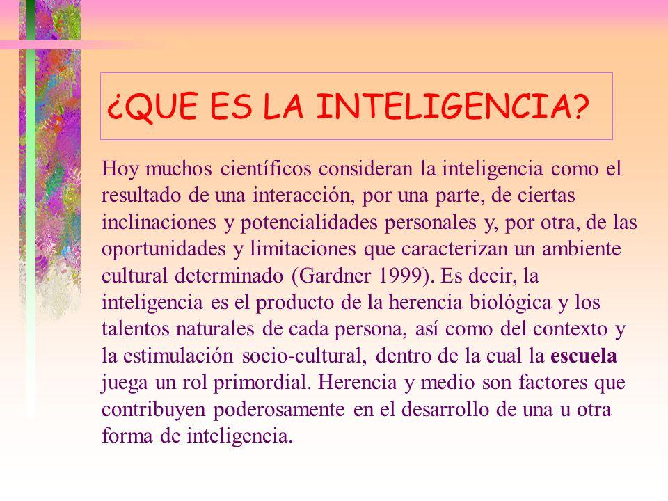 ¿QUÉ ES LA INTELIGENCIA? La primera generación de psicólogos de la inteligencia, como Charles Spearman (1927) y Lewis Terman (1975) consideraban que l