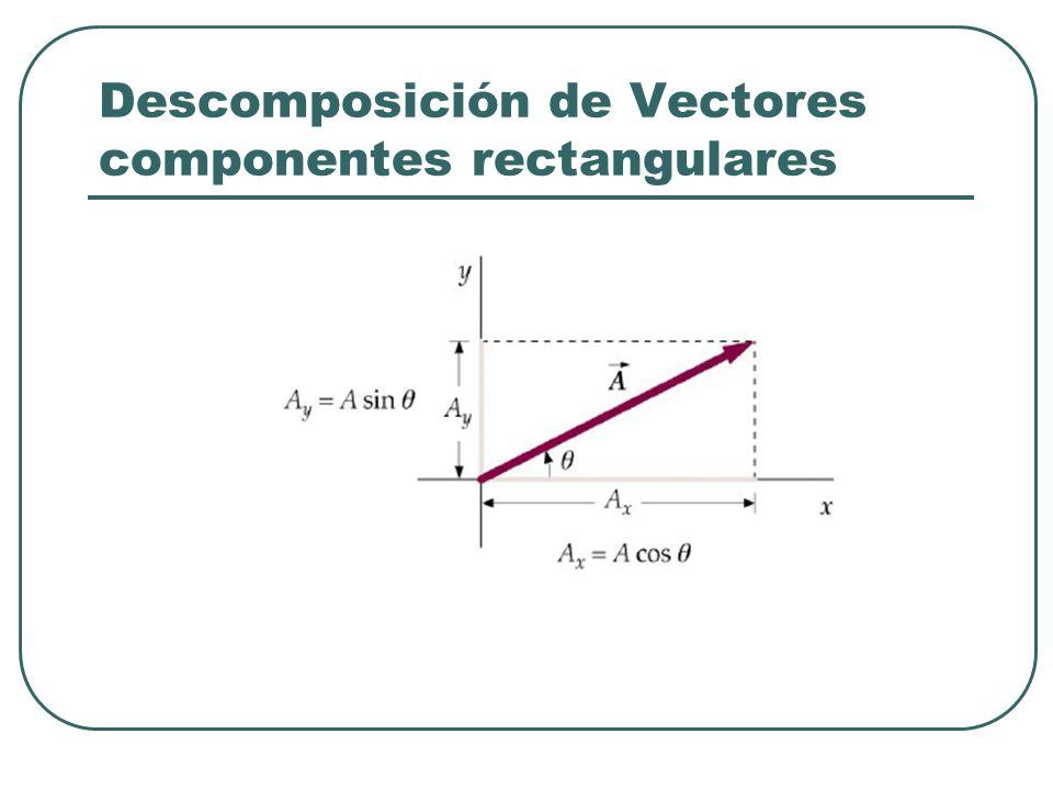 Descomposición de Vectores componentes rectangulares