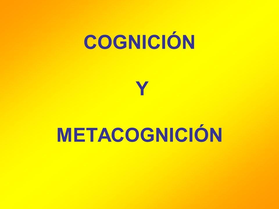 COGNICIÓN Y METACOGNICIÓN