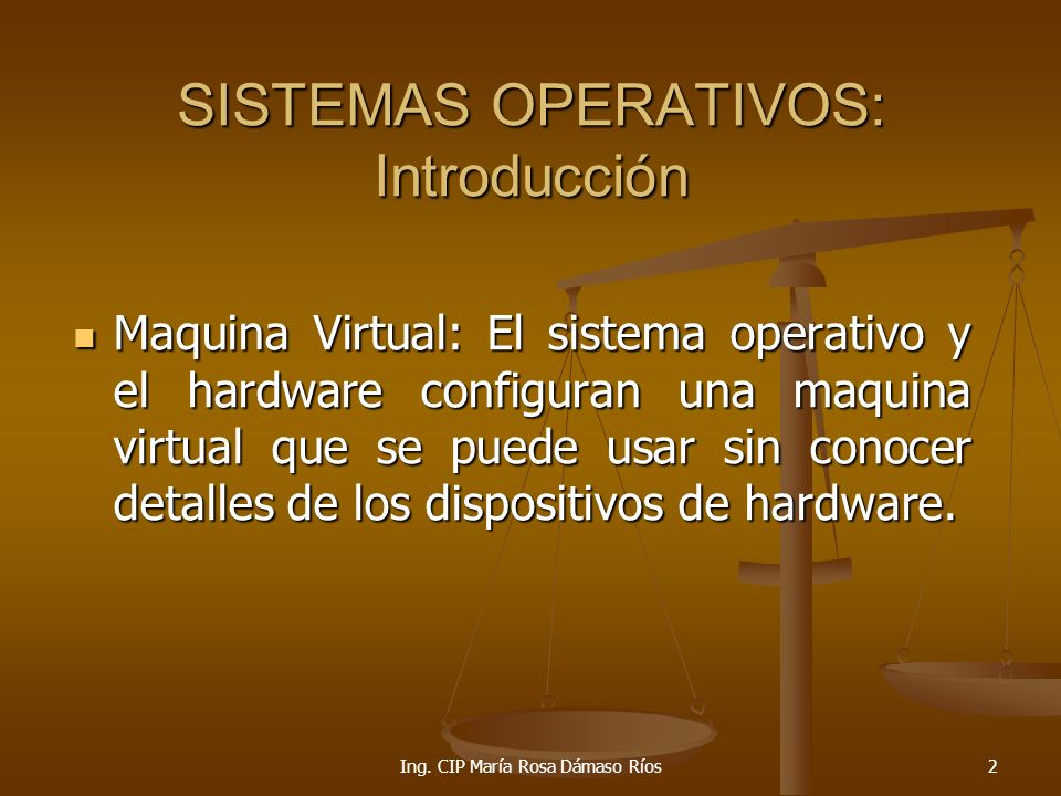 Ing.CIP María Rosa Dámaso Ríos23 TIPOS DE SIST. OPERATIVOS Sistema Operativo Multiusuario.