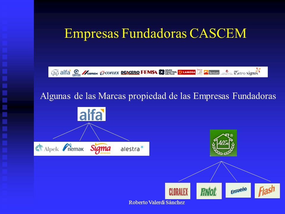 Roberto Valerdi Sánchez Empresas Fundadoras CASCEM Algunas de las Marcas propiedad de las Empresas Fundadoras
