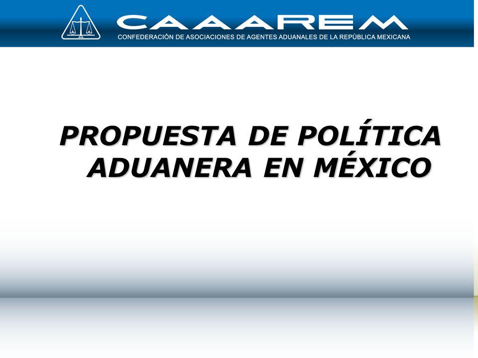 1 PROPUESTA DE POLÍTICA ADUANERA EN MÉXICO