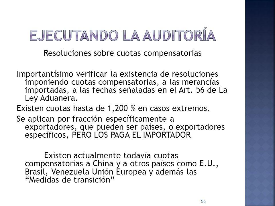 Resoluciones sobre cuotas compensatorias Importantísimo verificar la existencia de resoluciones imponiendo cuotas compensatorias, a las merancías impo