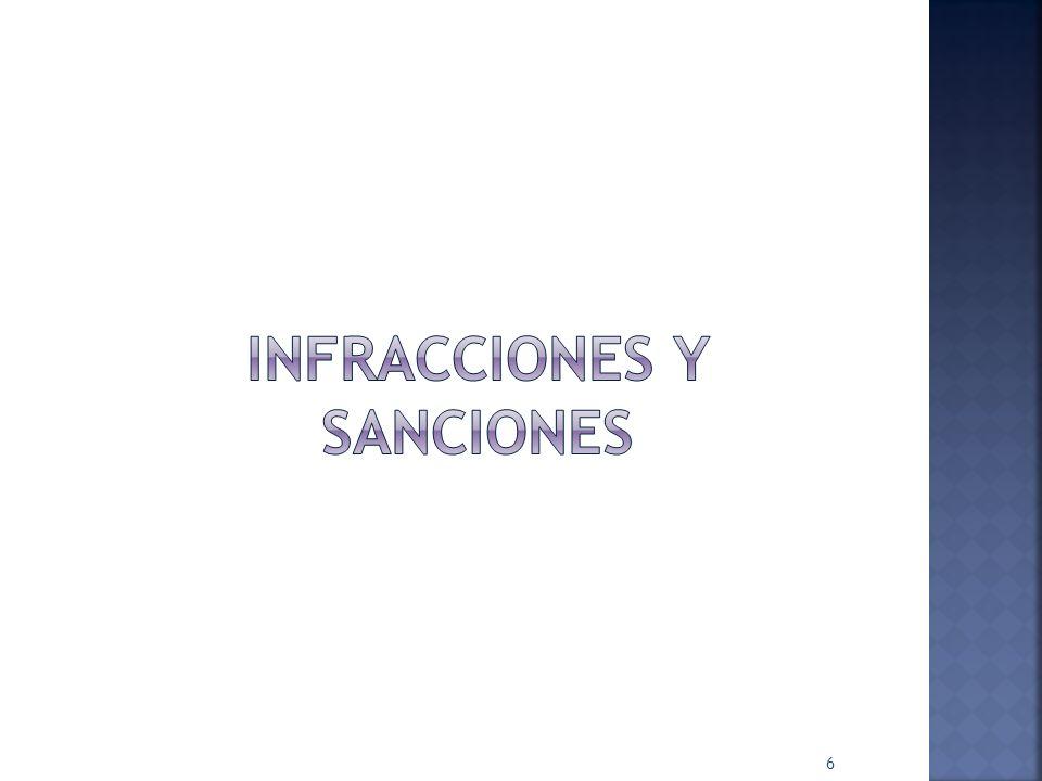 Principales infracciones para efectos de auditoría …/… IV.