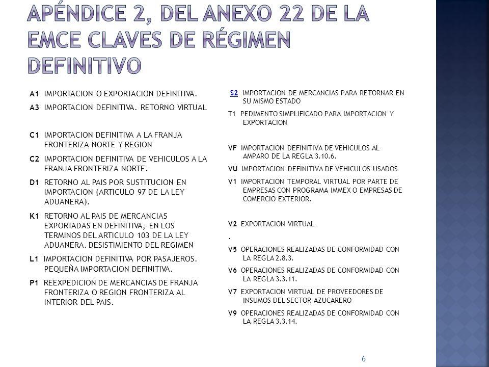 47 Clave Descripción 1 Depósito 2 Fideicomiso 3 Línea de crédito 4 Cuenta referenciada (depósito referenciado) 5 Prenda 6 Hipoteca 7 Títulos valor 8 Carteras de créditos del propio contribuyente INSTITUCIÓN EMISORA: Autorizada por la SHCP para emitir cuentas aduaneras: 1.- Banco Nacional de México, S.A.
