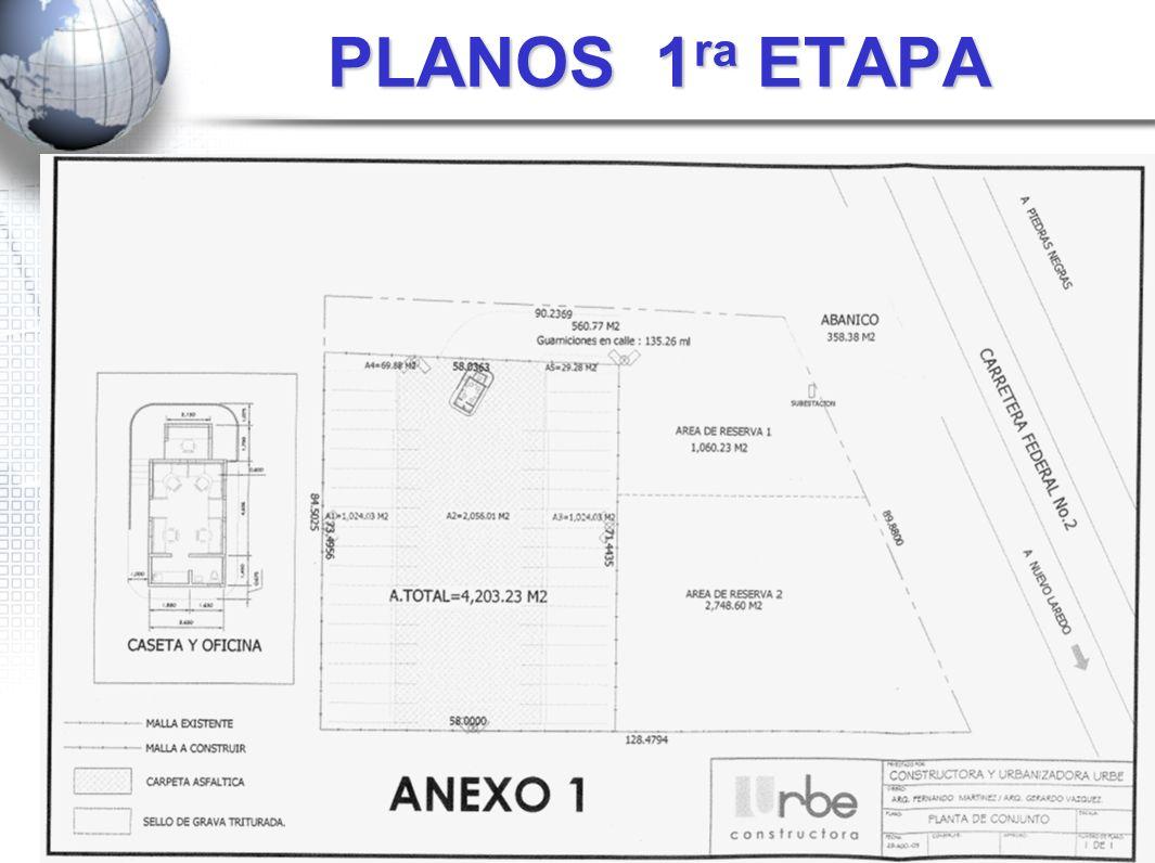 PLANOS 1 ra ETAPA