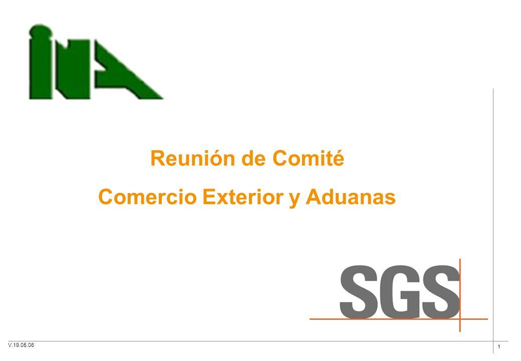 1 Reunión de Comité Comercio Exterior y Aduanas V.19.05.06