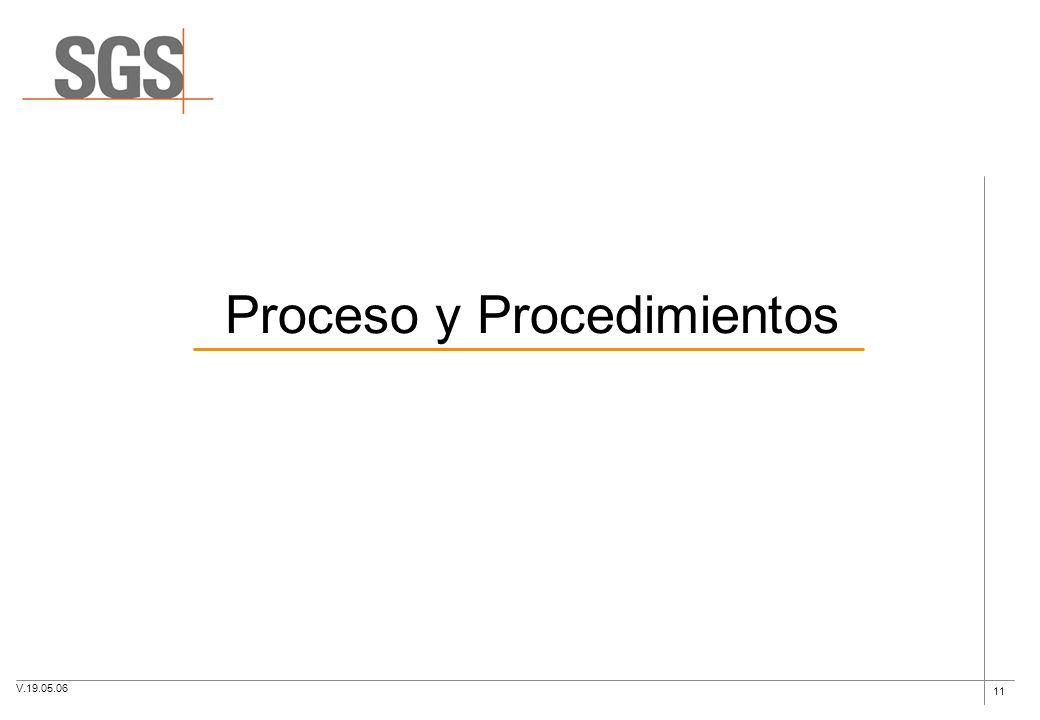 11 Proceso y Procedimientos V.19.05.06