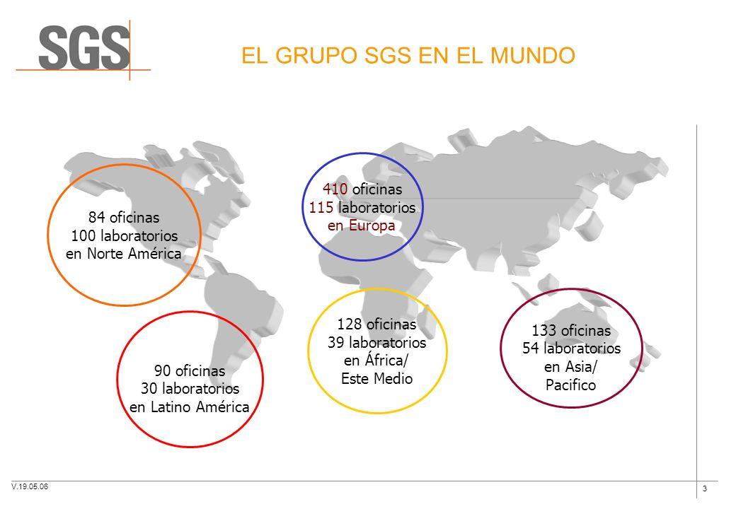 3 EL GRUPO SGS EN EL MUNDO 84 oficinas 100 laboratorios en Norte América 90 oficinas 30 laboratorios en Latino América 128 oficinas 39 laboratorios en