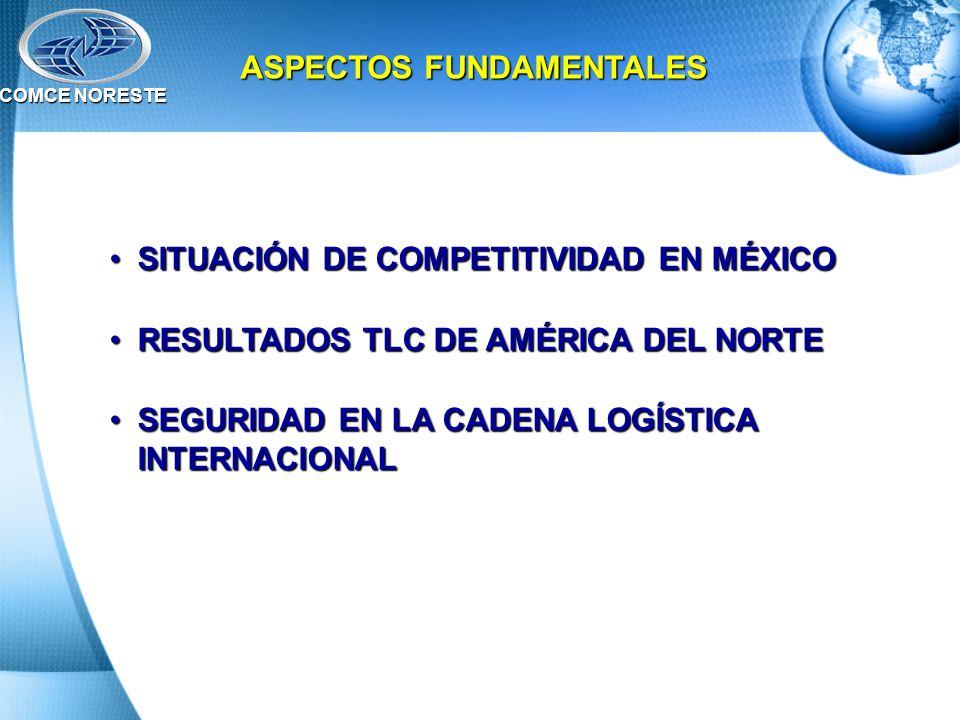 ASPECTOS FUNDAMENTALES SITUACIÓN DE COMPETITIVIDAD EN MÉXICOSITUACIÓN DE COMPETITIVIDAD EN MÉXICO RESULTADOS TLC DE AMÉRICA DEL NORTERESULTADOS TLC DE